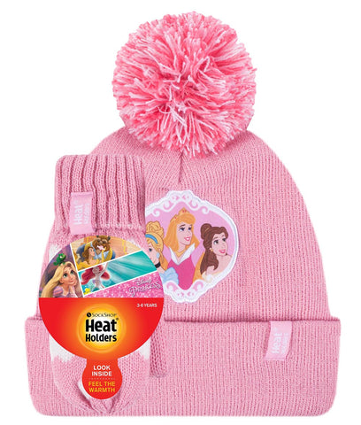 Kids Licensed DISNEY PRINCESS Hat and Mittens Age 3-6 Years