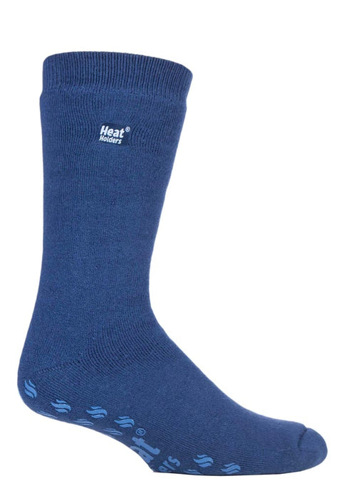 6-11 UK 39-45 EUR IOMI  Heat Holders Dual Layer Raynaud's Thermal Warm Slipper Socks DEEP BLUE