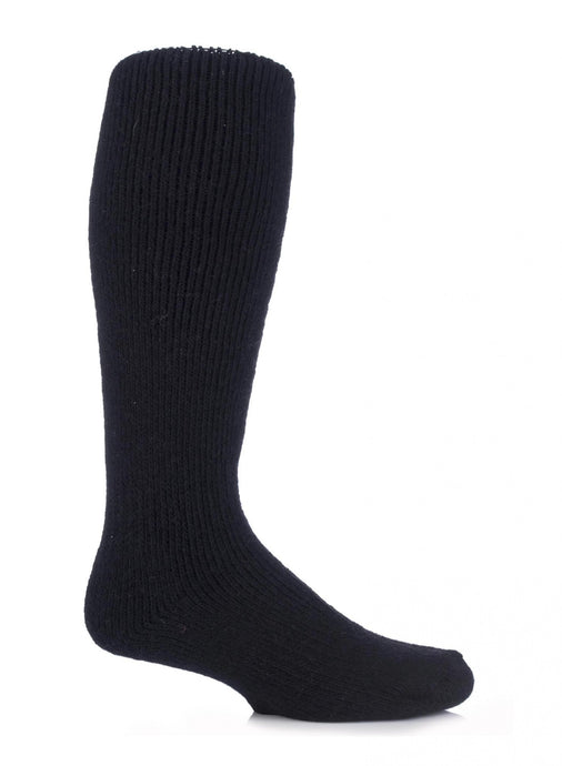 Mens Wool Long Leg Heat Holders Socks 6-11 UK 39-45 EUR BLACK