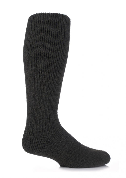 Mens Wool Long Leg Heat Holders Socks 6-11 UK 39-45 EUR FOREST GREEN