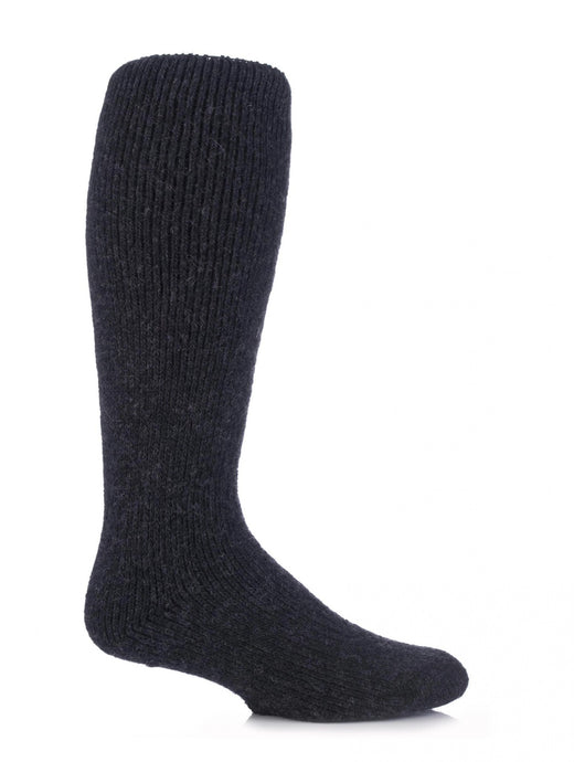 Mens Wool Long Leg Heat Holders Socks 6-11 UK 39-45 EUR GREY