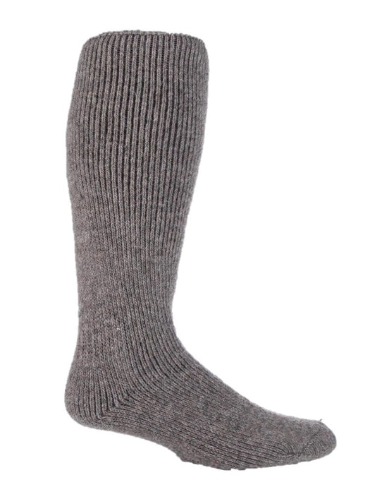 Mens Wool Long Leg Heat Holders Socks 6-11 UK 39-45 EUR STONE