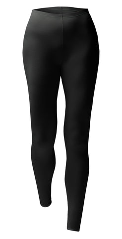 Ladies Lightweight Thermal Bottoms - Black - 4 Sizes