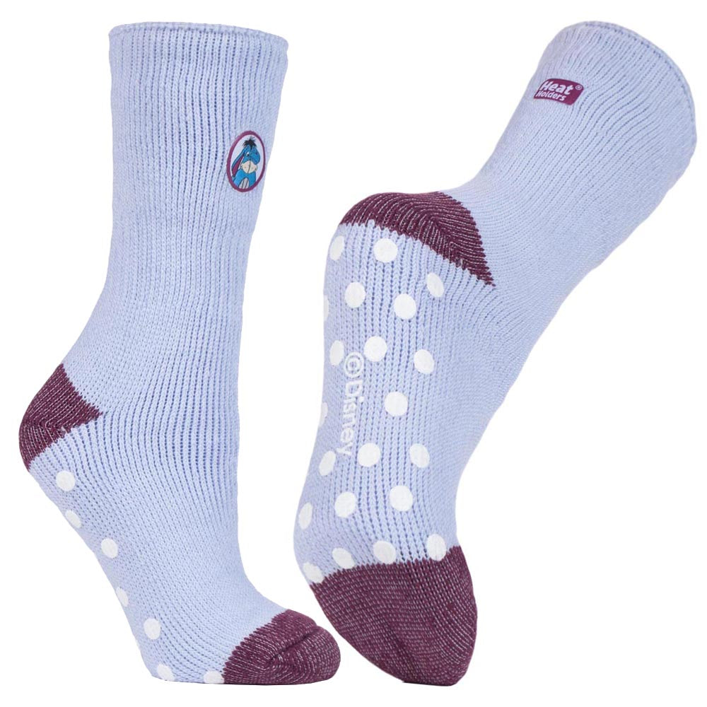 Ladies Eeyore Heat Holders Slipper Socks 4-8 UK 37-42 EUR