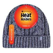 Load image into Gallery viewer, Ladies Heat Weaver Heat Holders Cable Turnover Hat - 7 Colours