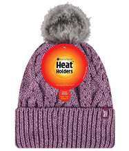 Load image into Gallery viewer, Ladies Heat Holders Heatweaver Solna Turn Over Pom Pom Hat - 5 Colours