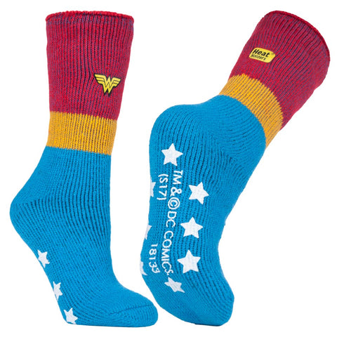 Ladies Wonder Woman Heat Holders Slipper Socks 4-8 UK 37-42 EUR