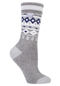 Ladies Jacquard LITE Heat Holders Socks 4-8 UK 37-42 EUR