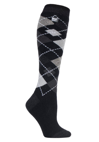 Calzini da donna HEAT HOLDERS Argyle Long LITE