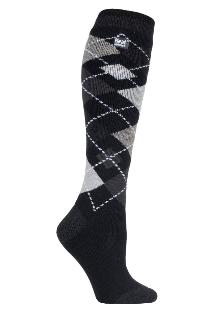 Ladies Jacquard Long LITE Heat Holders Socks 4-8 UK 37-42 EUR
