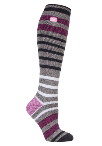 Ladies HEAT HOLDERS Stripe Long LITE Socks