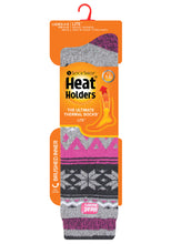 Load image into Gallery viewer, Ladies Jacquard Long LITE Heat Holders Socks 4-8 UK 37-42 EUR