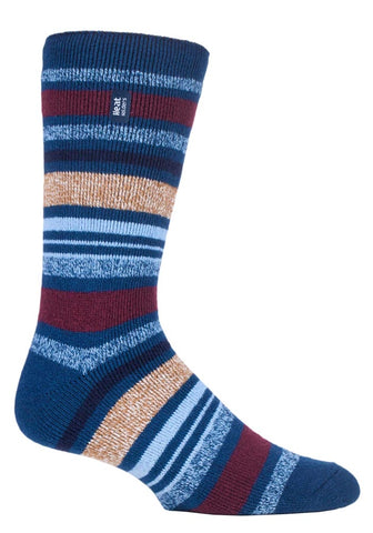 Mens  LITE Heat Holders Socks 6-11 UK 39-45 EUR ALPINE  STRIPE