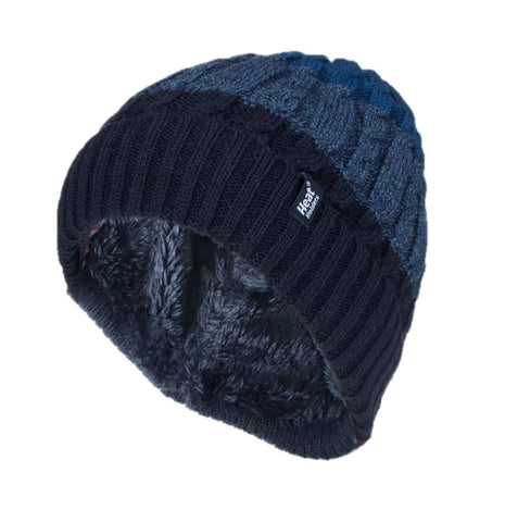 Mens HEAT HOLDERS Malmo Navy Hat