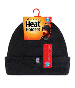 Mens Heat Holders Turnover Cuff Hat (One Size, Black)