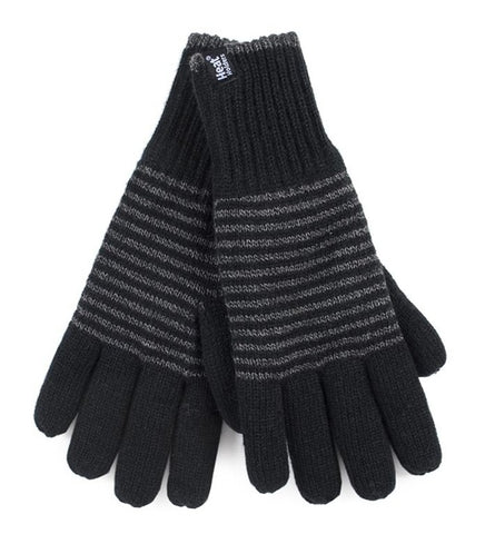 Mens Bergen Heat Weaver Heat Holders Gloves 2 Sizes - Black