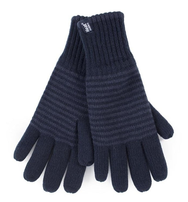 Mens Bergen  Heat Weaver Heat Holders Gloves 2 Sizes - Navy