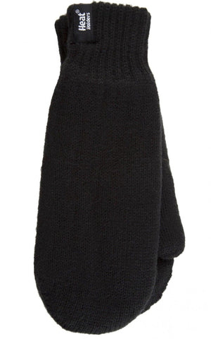 SPECIAL OFFER - Mens HEAT HOLDERS Black Mittens
