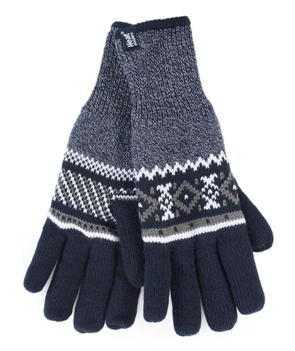 Mens Karlstad  Heat Weaver Heat Holders Gloves 2 Sizes - Navy