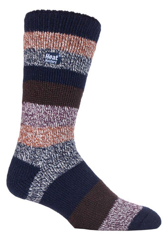 Herren HEAT HOLDERS Block Twisted Stripe Socken