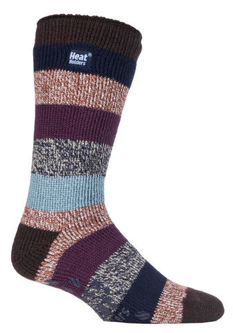 Herren HEAT HOLDERS Stripe SLIPPER Socken