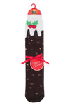 Mens HEAT HOLDERS Christmas Pudding Dual Layer Socks