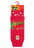 Mens Grinch Heat Holders Slipper Socks 6-11 UK 39-45 EUR