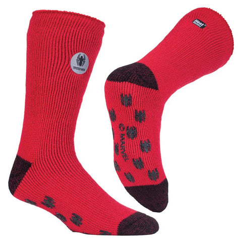 Mens Ultimate Spiderman Heat Holders Slipper Socks 6-11 UK 39-45 EUR