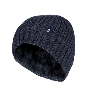 Heat Holders Mens Thermal  Turn Over Cuff Ribbed Hat 3 Colours Available