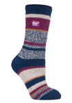 Ladies HEAT HOLDERS Twist Stripe Socks