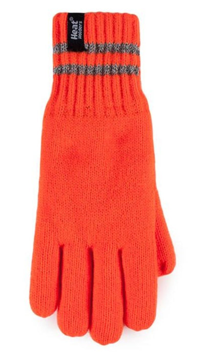 Heat Holders  Workforce Gloves - With Reflective Stripes - 2 Sizes, Orange