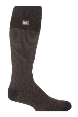 Mens Heat Holders Ski Socks 6-11 UK 39-45 EUR - Navy Black Charcoal