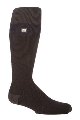 Mens Heat Holders Ski Socks 6-11 UK 39-45 EUR - Charcoal Navy Black