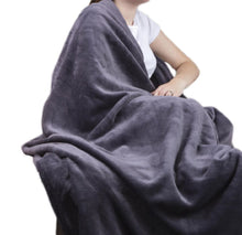 Load image into Gallery viewer, Heat Holders Snuggle Thermal Luxury Fleece Blanket / Throw 1.6 Tog ... Antique Silver