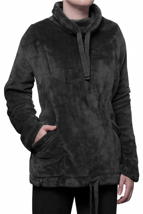 Ladies Fleece Snug Over Jumper - Black - 2 Sizes