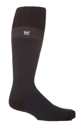 Mens Heat Holders Ski Socks 6-11 UK 39-45 EUR - Black Charcoal Navy