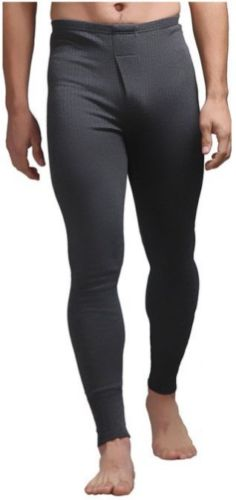 Mens Thermal Long Johns - Charcoal, 5 Sizes