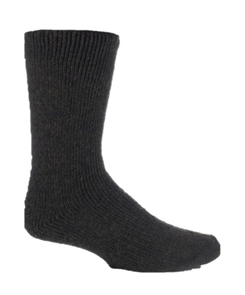 Mens Wool Short Leg Heat Holders Socks 6-11 UK 39-45 EUR FOREST GREEN
