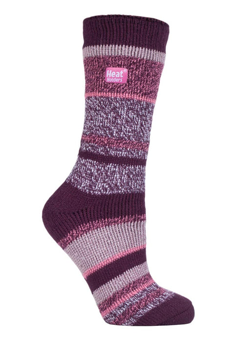 Ladies Heat Holders 4-8 UK 37-42 EUR Multi Twisted Stripe Cosby