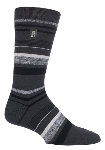 Mens  HEAT HOLDERS ULTRA LITE Stripe Socks
