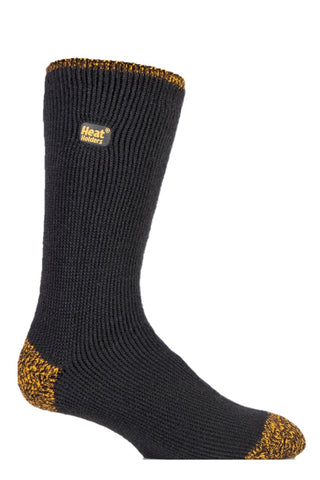 Mens Workforce Heat Holders Socks 6-11 UK 39-45 EUR CHARCOAL