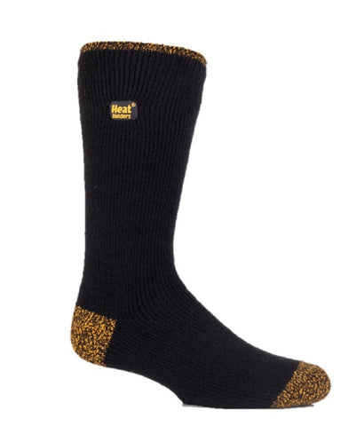 Mens Workforce LITE Heat Holders Socks 6-11 UK 39-45 EUR BLACK