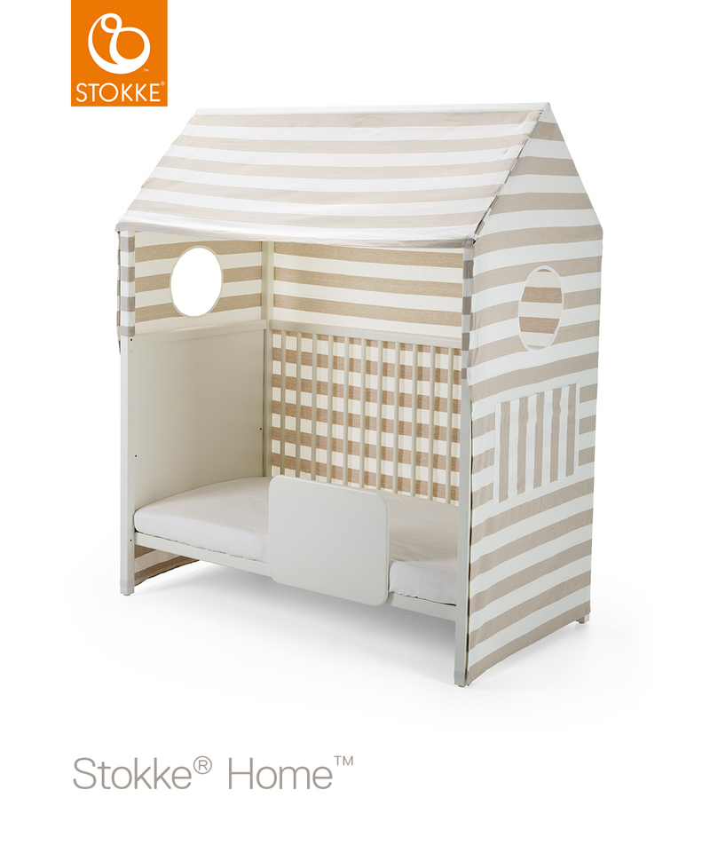 Stokke Home Bed toddler mode with tent and bed guard