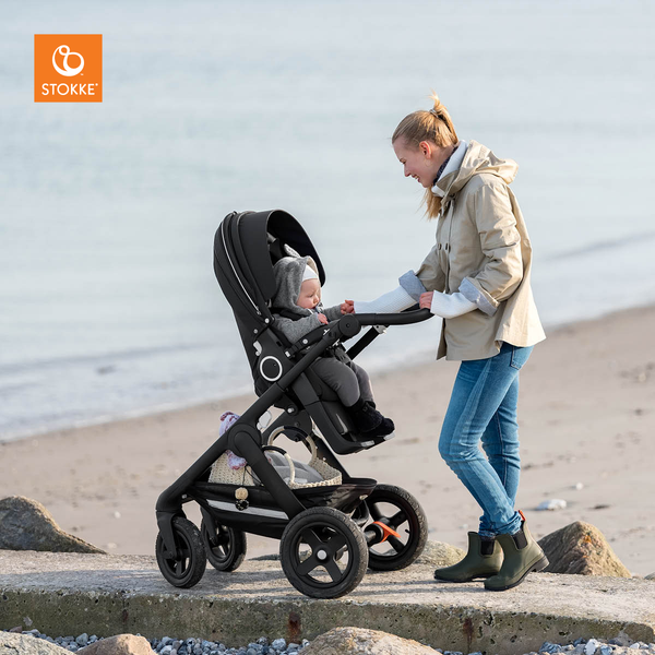 Stokke® Trailz Terrain Black Complete and Brown Leatherette