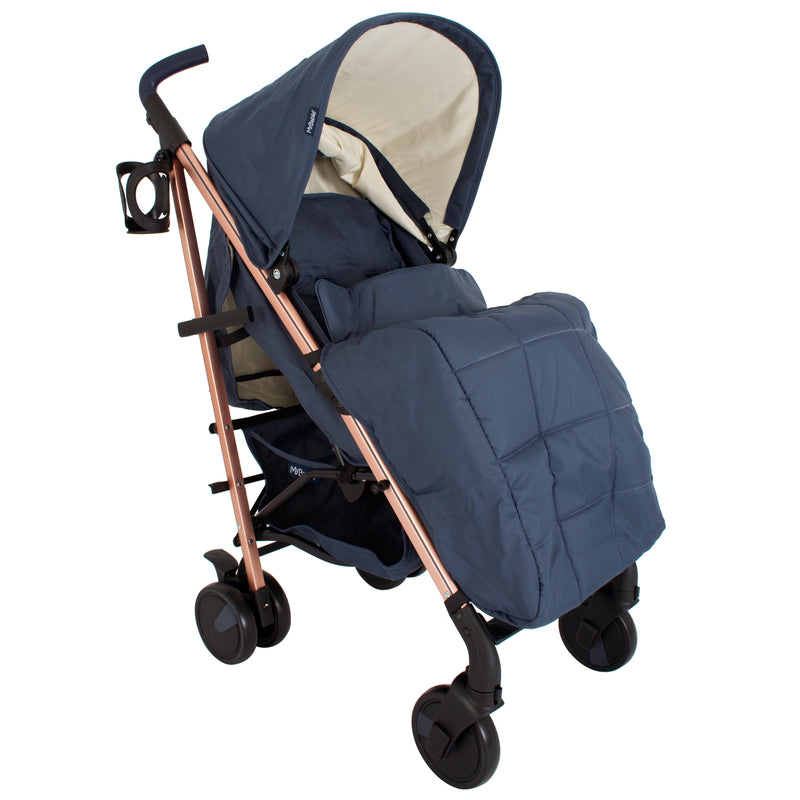 My Babiie Billie Faiers Rose Gold and Navy Stroller
