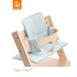 Tripp Trapp Cushion in Aqua Stripes