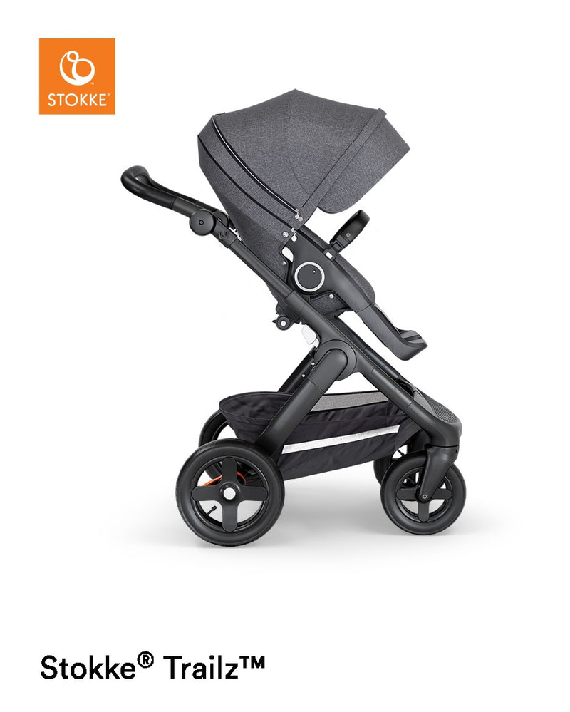 Stokke Trailz Terrain Black Complete and Black Leatherette