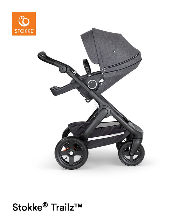 Stokke® Trailz Terrain Black Complete and Black Leatherette
