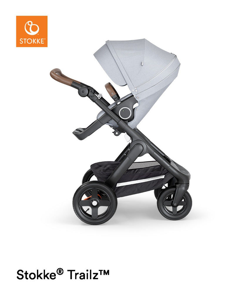 Stokke Trailz Terrain Black Complete and Brown Leatherette