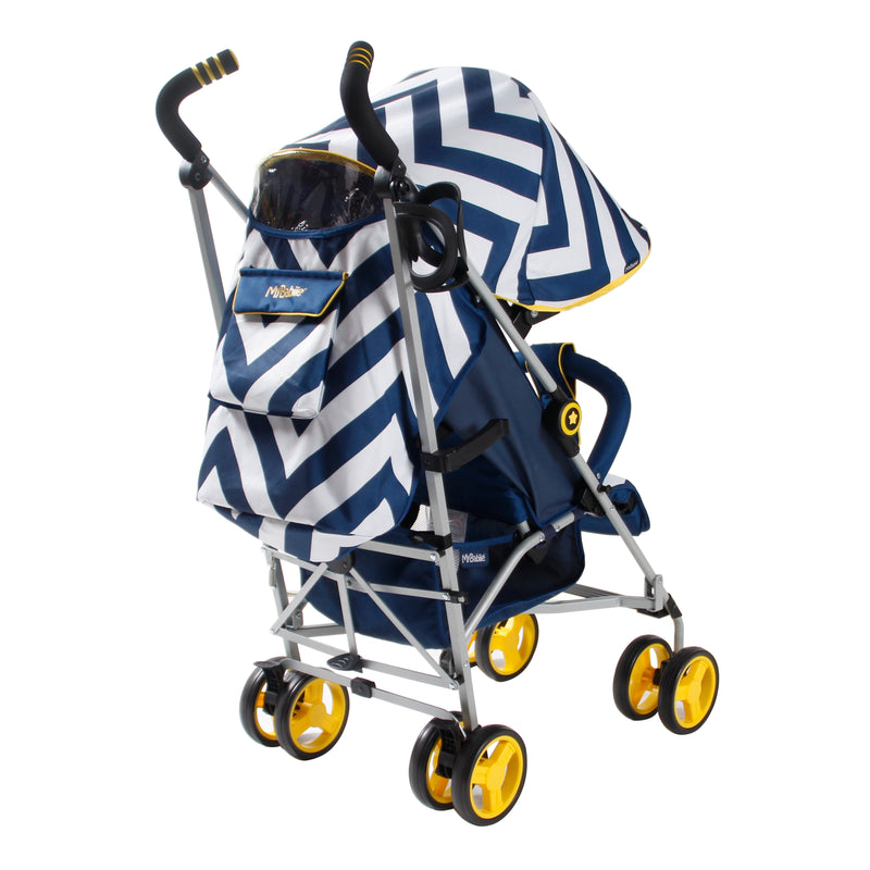 My Babiie Blue Chevron Stroller @ My Crib Rocks